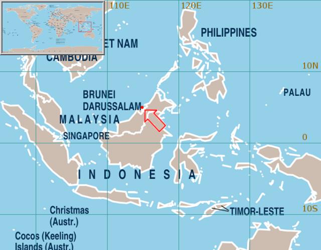 Brunei Darussalam On World Map Timekeeperwatches